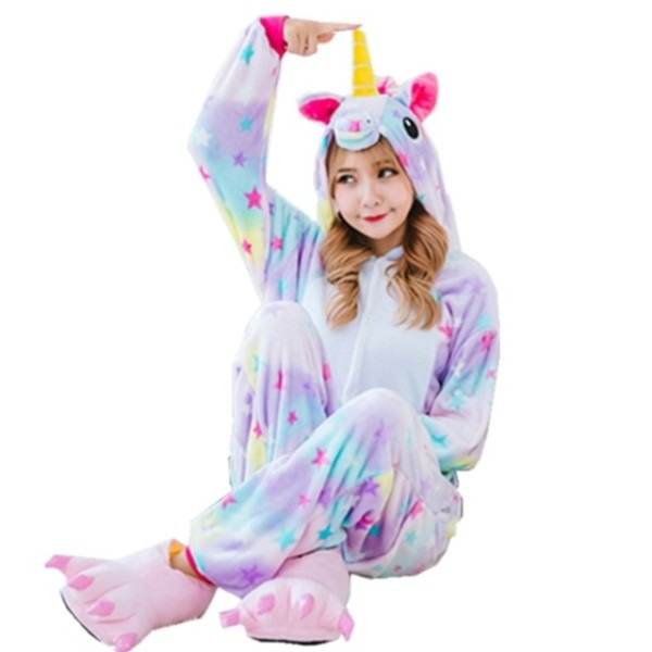 2017 Hot New Wholesale Rainbow Unicorn Onesie Adult Unisex Cosplay