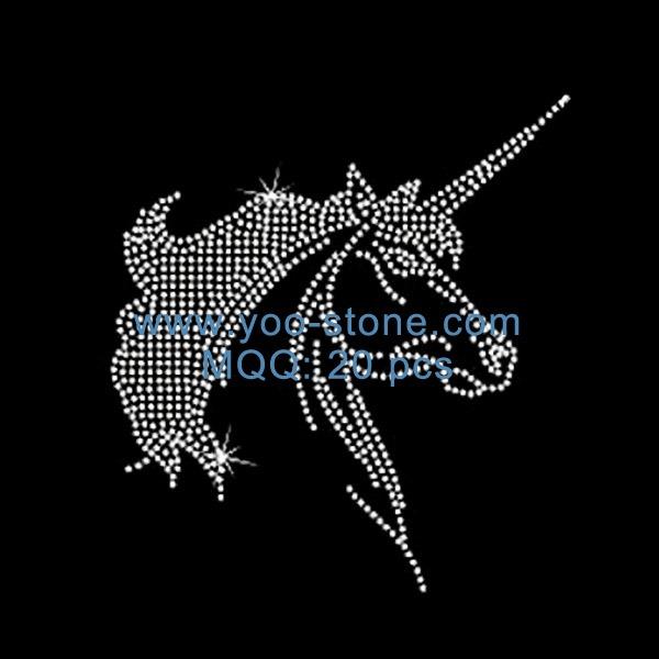 20 Pcs Lot Sale Newest Iron On Unicorn Hot Fix Motif Rhinestone