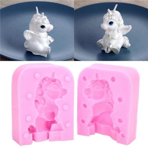 3d Horse Unicorn Silicone Mold Candle Shaped Convenient Soap Mould