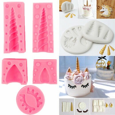 3d Unicorn Silicone Mold Fondant Chocolate Mould Cake Baking