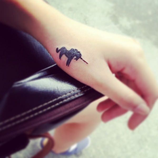 67 Intriguing Unicorn Tattoos Designs Tiny Unicorn Tattoo
