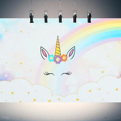 7x5ft   5x3ft Rainbow Unicorn Baby Photography Photo Background