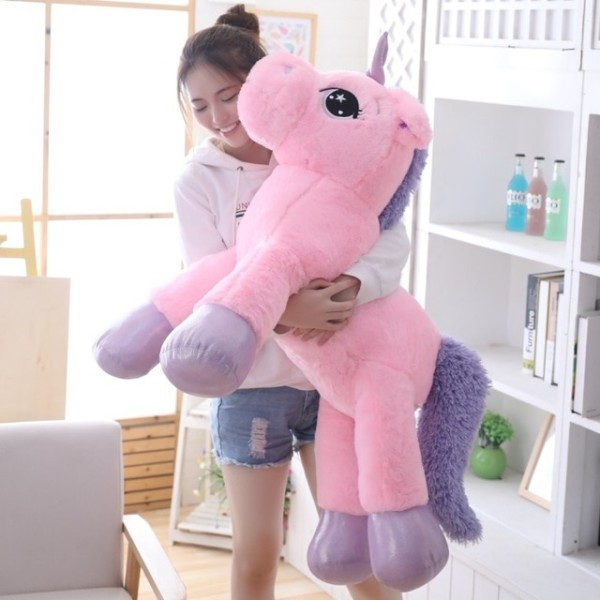 85cm 100cm White Unicorn Plush Toys Giant Unicorn Stuffed Animal
