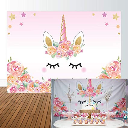 Amazon Com  Allenjoy 7x5ft Unicorn Backdrop Theme Themed Birthday