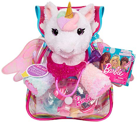 Amazon Com  Barbie Unicorn Pet Doctor 62760, Multicolor  Toys & Games