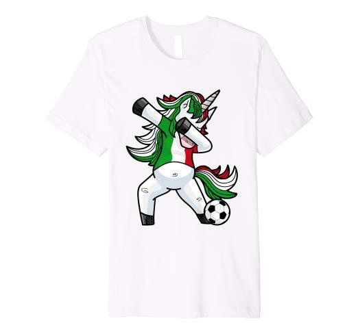 Amazon Com  Dabbing Soccer Unicorn T Shirt Italy Italian Football