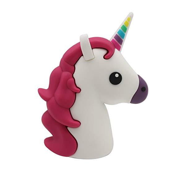 Amazon Com  Dbigness 2600mah Unicorn Cute Funny Cartoon Pvc
