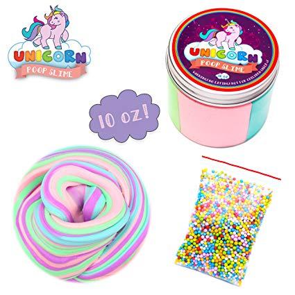 Amazon Com  Fluffy Unicorn Poop Slime Kit