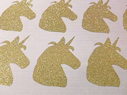 Amazon Com  Glitter Gold Unicorn Stickers