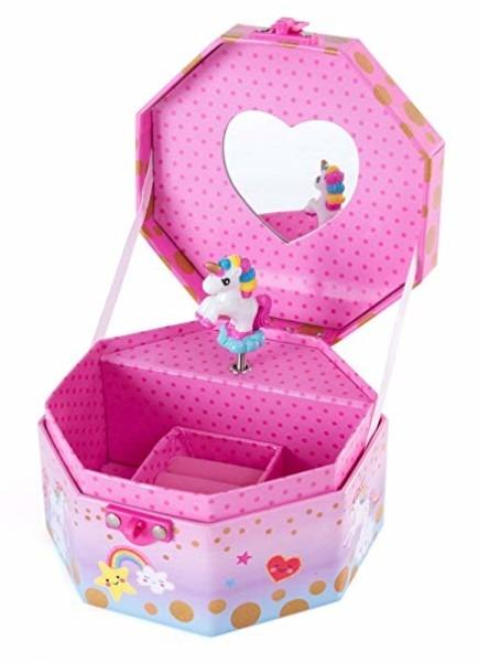 Amazon Com  Hot Focus Musical Girls Jewelry Box – Rainbow Unicorn