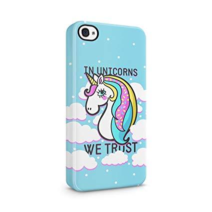Amazon Com  In Unicorns We Trust Cute Unicorn Head Plastic Phone