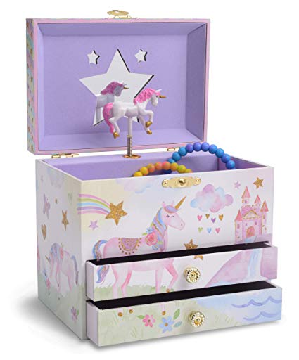 Amazon Com  Jewelkeeper Musical Jewelry Box With 2 Pullout Drawers