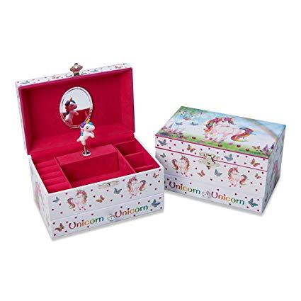 Amazon Com  Lucy Locket Magical Unicorn Musical Jewelry Box For