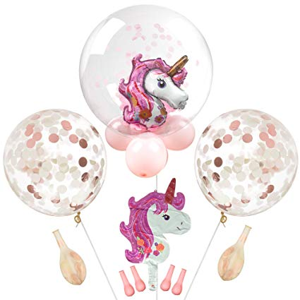Amazon Com  Madellena Unicorn Balloon Set  Unicorn Balloons For