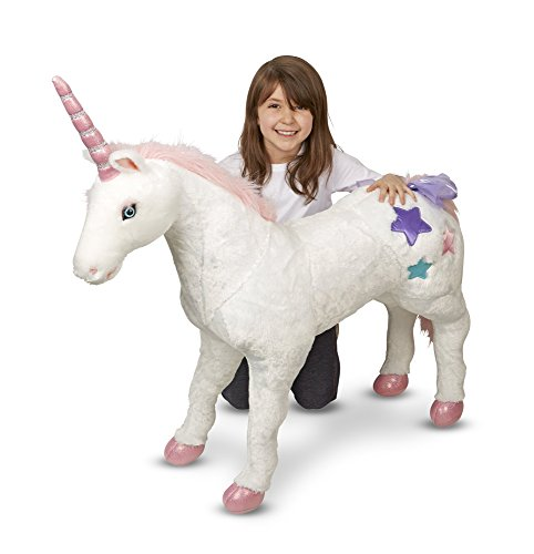 Amazon Com  Melissa & Doug Giant Unicorn (stuffed Animals & Play