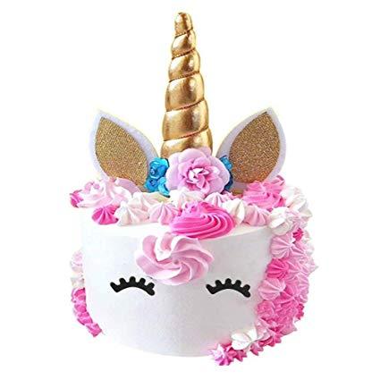 Amazon Com  Palksky Handmade Gold Unicorn Birthday Cake Toppers