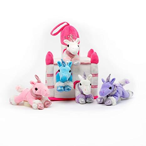 Amazon Com  Plush Unicorn Castle With Animals