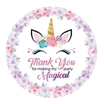 Amazon Com  Rebanah Magical Unicorn Thank You Stickers