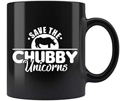Amazon Com  Save The Chubby Unicorns Black Coffee Mug