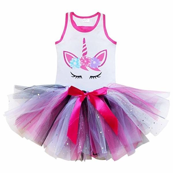 Amazon Com  So Sydney Girls Toddler Unicorn Tutu Skirt & Top