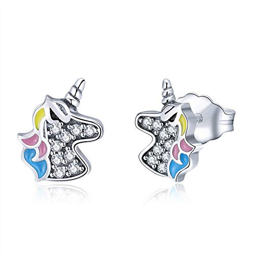 Amazon Com  Sterling Silver Unicorn Stud Earrings For Women Girls