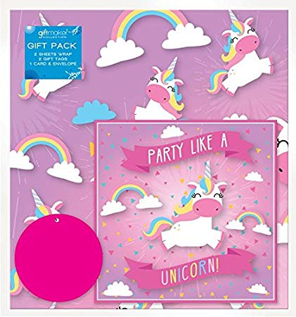 Amazon Com  The Home Fusion Company 2 Sheets Of Pink Unicorn