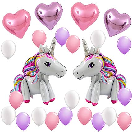 Amazon Com  Unicorn Balloons Birthday Party Supplies For Kids