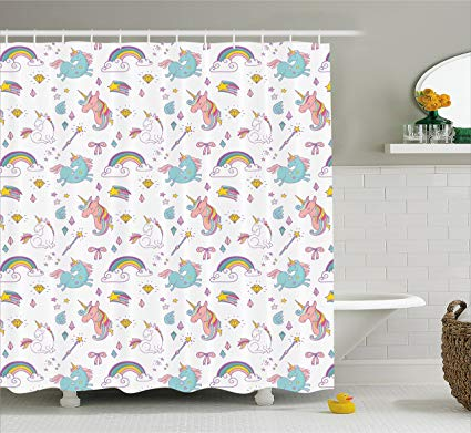 Amazon Com  Unicorn Home And Kids Decor Shower Curtain By