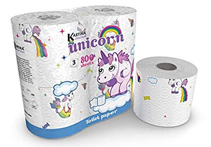 Amazon Com  Unicorn Toilet Paper Tissue 4 Rolls Pack