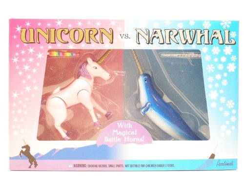 Amazon Com  Unicorn Vs  Narwhal Play Set  Toys & Games