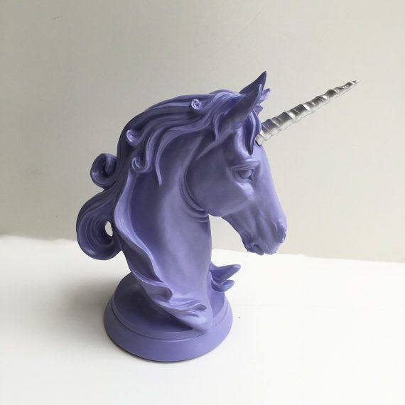 Any Color Unicorn Head Table Top Statue   Faux Taxidermy
