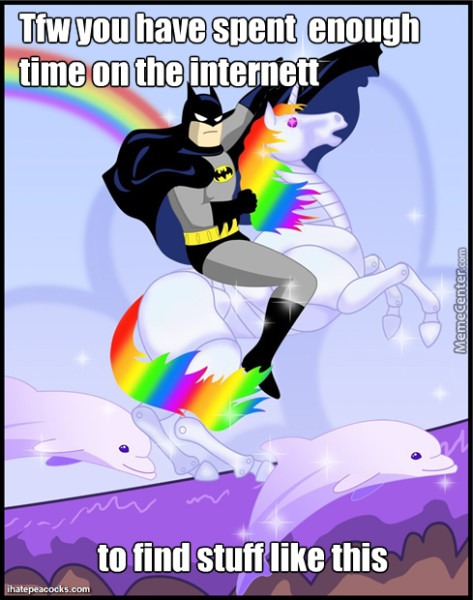 Batman Riding A Robot Unicorn By Ampharos