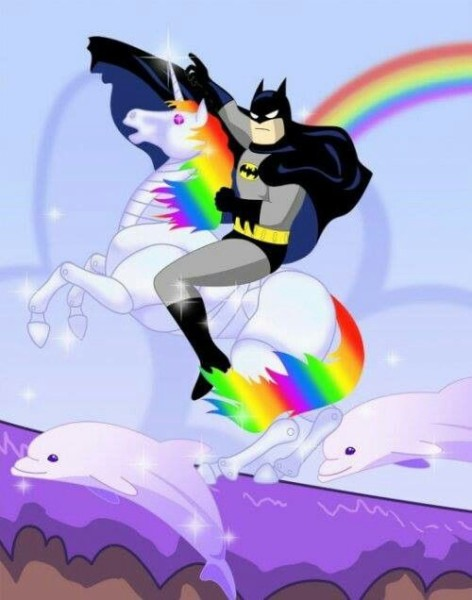 Batman Riding A Unicorn!