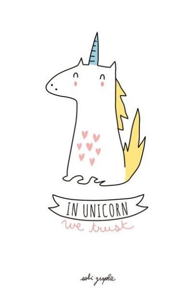 Card A6 350 Gr  In Unicorn We Trust
