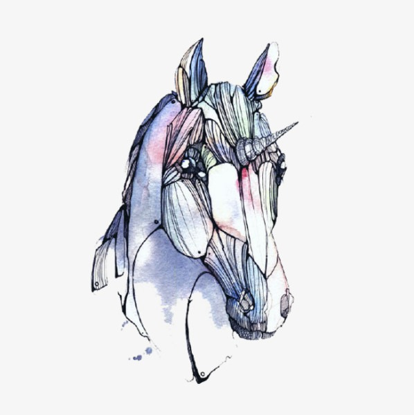 Cartoon Unicorn Head, Head Clipart, Cartoon Clipart, Unicorn