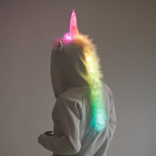 Color Light Up Led Unicorn Hoodie