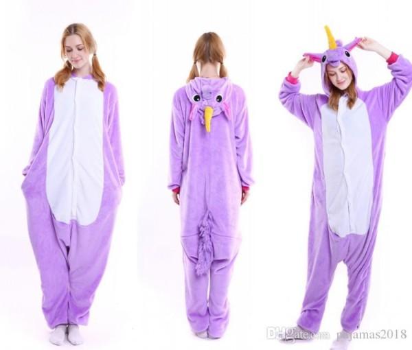 Compre Fluffy Unicorn Onesie Pijamas Adultos Disfraces Newcosplay