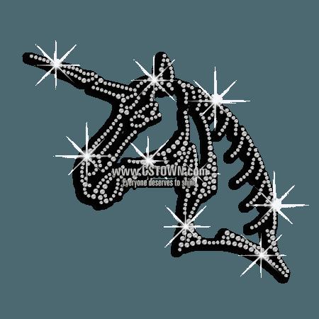 Crystal Bling Unicorn Iron