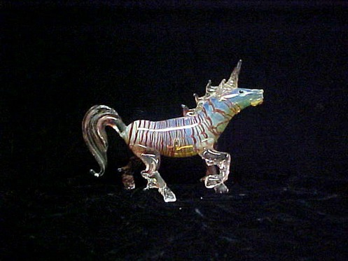 Custom Hand Blown Glass Tubing Glass Art Unicorn Pipe Sixty