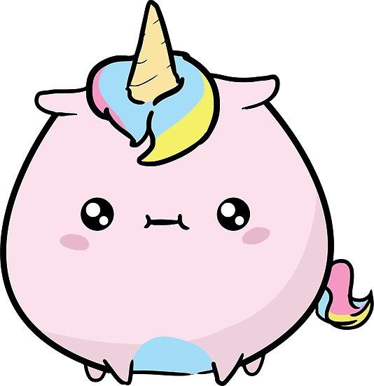 Cute Chubby Unicorn  Posters By Lumio