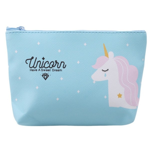 Cute Unicorn Cosmetic Bags Kawaii Cartoon Makeup Bag Pencil Case