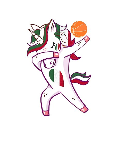 Dabbing Basketball Italian Italy Unicorn Flag  Posters By Lucian