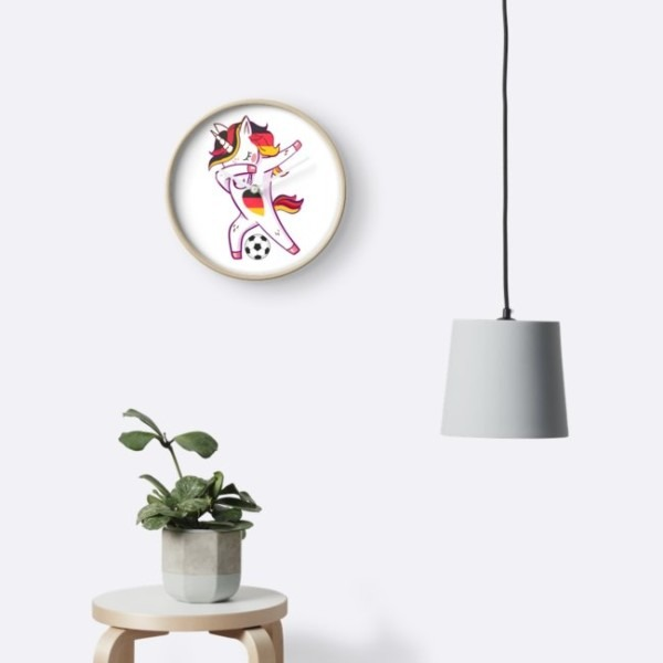 Dabbing Soccer German Cute Germany Unicorn Flag   Clocks By Lucian