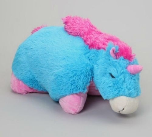 Discontinued   Genuine Pillow Pet Neonz Neon Blue And Pink Unicorn