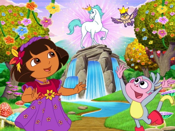 Dora The Explorer Unicorn Cartoon Beautiful Art Kids Huge Giant