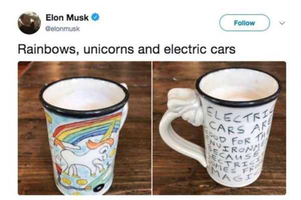 Elon Musk's Tesla And Farting Unicorn Artist Reach Agreement On