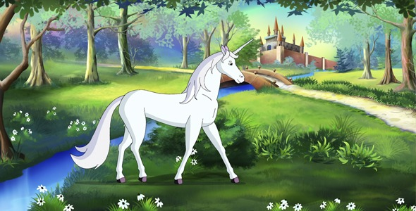 Fairy Tale Unicorn In A Magical Forest Uhd By Multipedia