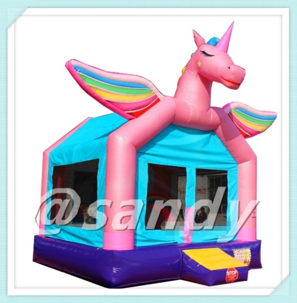 Free Air Ship To Door,4 5x4x3m Unicorn Bouncy Jumping Castle