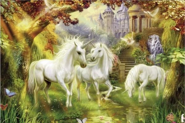 Free Shipping,unicorn,home Wall Decor Prints Realistic Oil