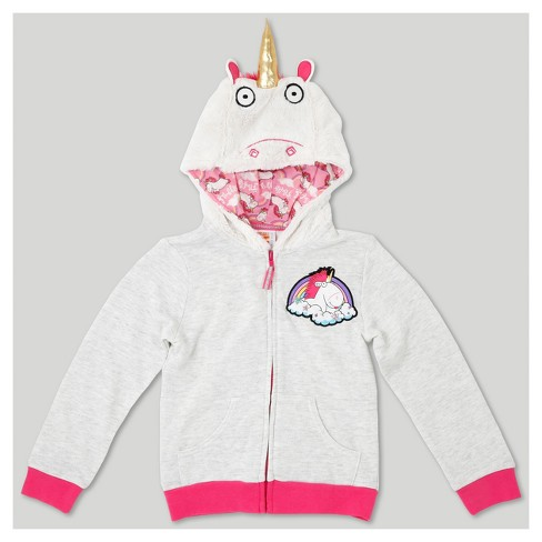 Girls' Despicable Me Fluffy The Unicorn Costume Hoodie